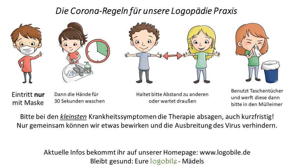 Corona-Regeln logobile